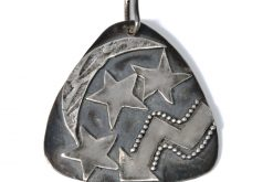 sterling moon & stars pendant